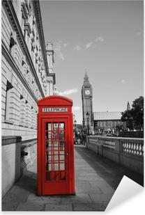 Sticker Pixerstick Big Ben et cabine téléphonique rouge