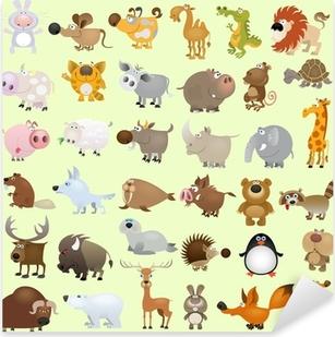 Big vector cartoon animal set Pixerstick Sticker