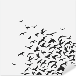 birds background Pixerstick Sticker