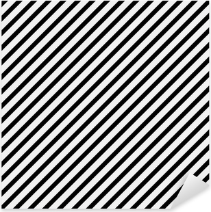 Black and White Diagonal Striped Pattern Repeat Background Pixerstick Sticker