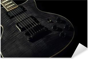Black Electric Guitar Pixerstick Sticker