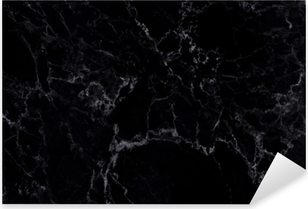 Black marble natural pattern for background and design. Pixerstick Sticker