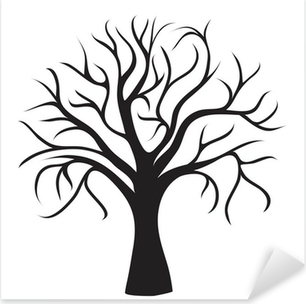 black tree without leaves Pixerstick Sticker