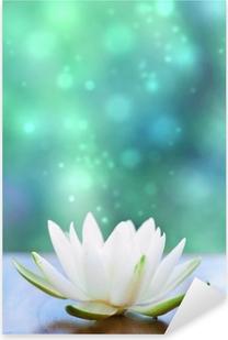 Sticker Pixerstick Blanc eau fleur lilly