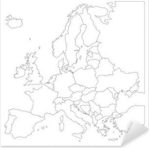 Black Blank Map Of Europe Sticker Pixers We Live To Change