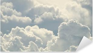 Pixerstick Sticker Blauwe lucht en mooie wolken