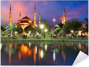 Pixerstick Sticker Blauwe Moskee in Istanbul, Turkije