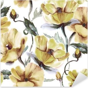 Pixerstick Sticker Bloemen naadloos patroon