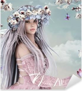 Sticker Pixerstick Blossom Girl