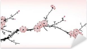 blossom painting Pixerstick Sticker