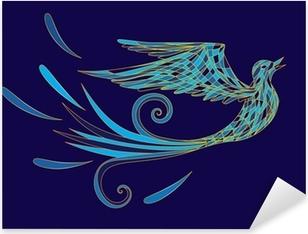 Sticker Pixerstick Blue bird