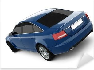 Blue Business-Class Car Pixerstick Sticker