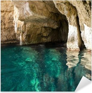 Blue Caves Pixerstick Sticker