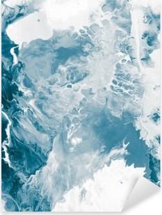 Blue marble texture. Pixerstick Sticker