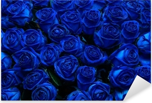 Sticker Pixerstick Blue roses