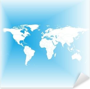 Black political world map vector sticker pixers we live to change blue world map vector pixerstick sticker gumiabroncs Choice Image
