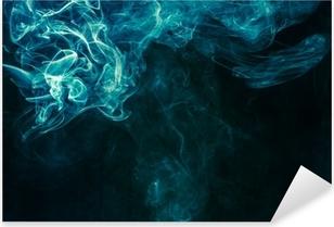 Bluish-green smoke Pixerstick Sticker