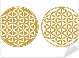 Blume des Lebens - Schutz Symbol, Heilige Geometrie Pixerstick Sticker