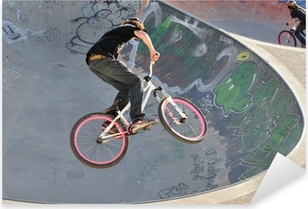 BMX bike Pixerstick Sticker