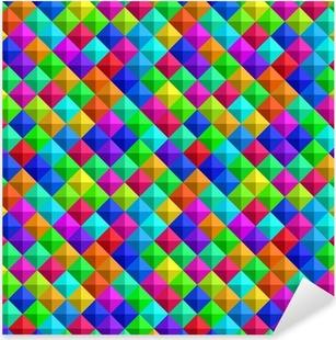 Bold Colorful 3-d Background Pixerstick Sticker