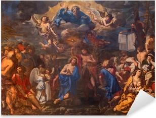 Bologna - The Baptism of Christ in church San Girolamo Pixerstick Sticker