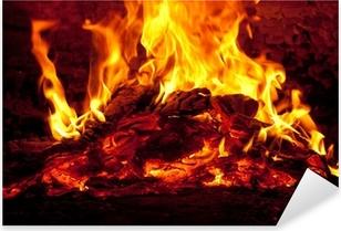 Pixerstick Sticker Bonfire in schoorsteen