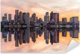 Boston downtown skyline panorama Pixerstick Sticker