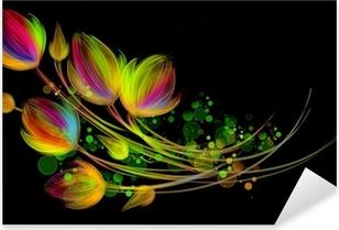 Sticker Pixerstick Bouquet lumineux