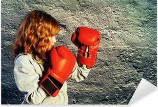 Boxing Practice Pixerstick Sticker
