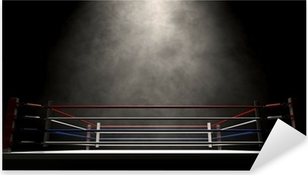 Boxing Ring Spotlit Dark Pixerstick Sticker
