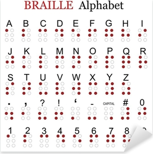 Braille alphabet Pixerstick Sticker