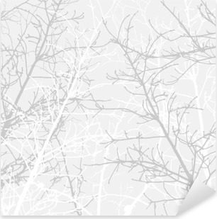 Branches texture pattern. Soft background. Pixerstick Sticker