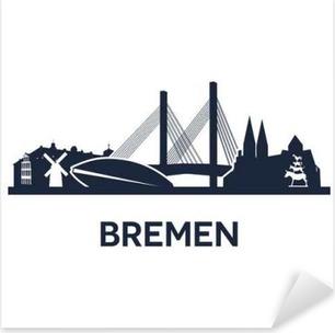 Skyline BREMEN FOOTBALL salon autocollant City ville murale mural