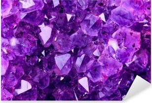 Bright Violet Texture from Natural Amethyst Pixerstick Sticker