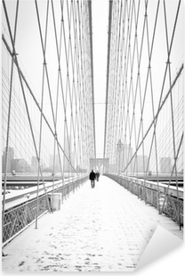 Brooklyn Bridge - bianco e nero Pixerstick Sticker