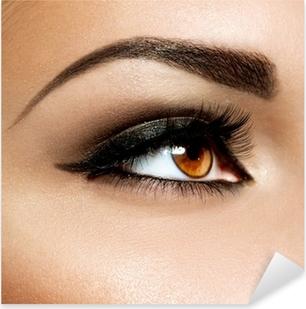 Brown Eye Makeup. Eyes Make-up Pixerstick Sticker