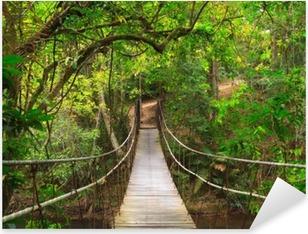 Pixerstick Sticker Brug naar het oerwoud, Thailand