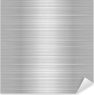 Brushed metal or aluminium plate Pixerstick Sticker