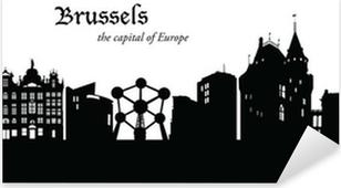 Sticker Pixerstick Bruxelles Cityscape