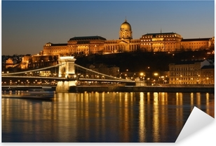 Budapest at night. Pixerstick Sticker