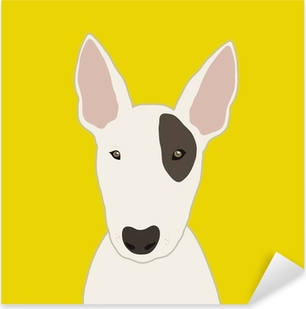 Bull Terrier Pixerstick Sticker