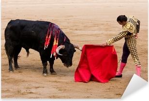 Bullfight in Barcelona Pixerstick Sticker