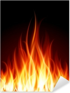 Burn flame fire vector background Pixerstick Sticker
