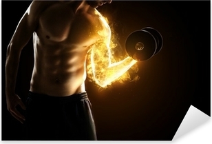 Burning Muscles Pixerstick Sticker