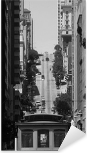 cable car at San Francisco Pixerstick Sticker