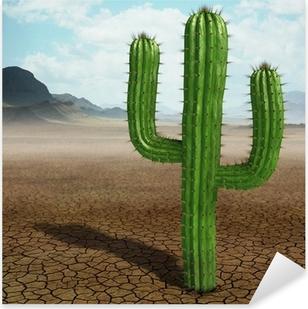 Pixerstick Sticker Cactus in de woestijn