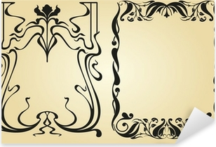 Sticker Pixerstick Cadre et des éléments de décoration Art Nouveau