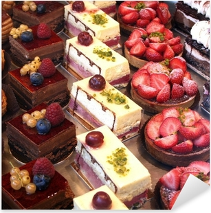 cake and pastry display Pixerstick Sticker