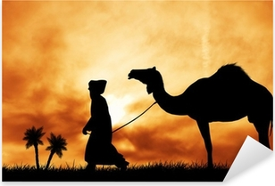 camel in the desert Pixerstick Sticker