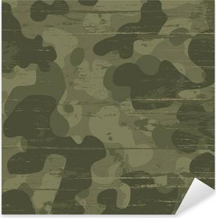 Camouflage military background. Vector illustration, EPS10 Pixerstick Sticker